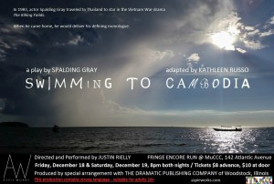 Swimming to Cambodia Encore Poster
